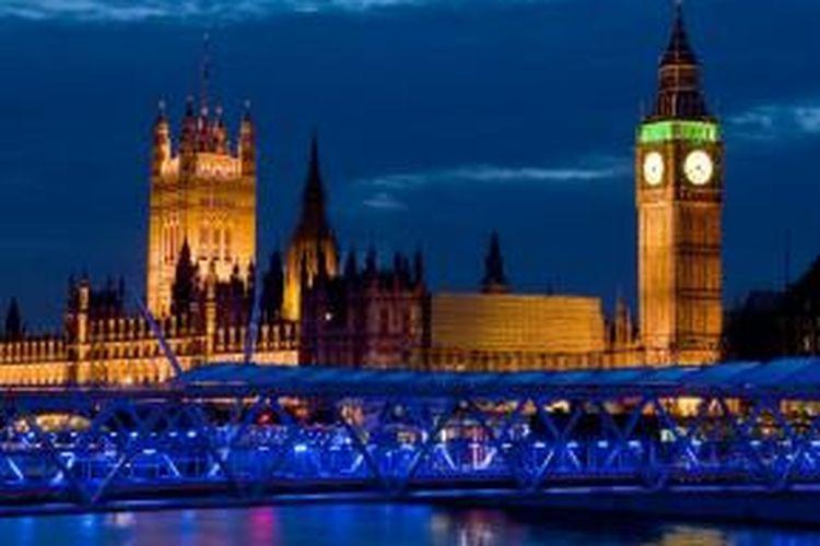 Gedung parlemen Inggris di London.
