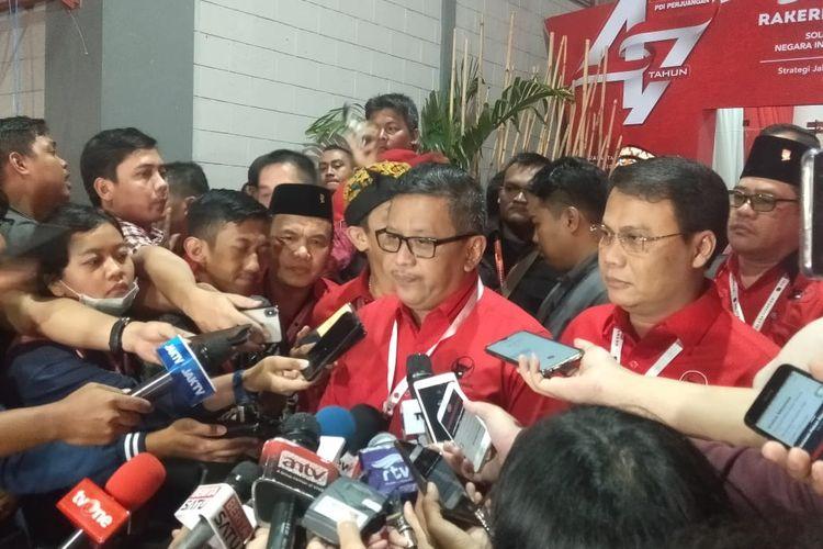 Sekretaris Jenderal PDI Perjuangan Hasto Kristiyanto di JIExpo Kemayoran, Jakarta Pusat, Minggu (12/1/2020).