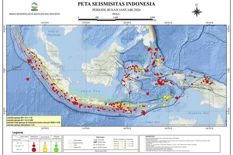 Peta zona aktif adalah laporan aktivitas gempa bulanan, dimana BMKG melakukan tugasnya melakukan monitoring gempa di wilayah Indonesia dan bukan prediksi gempa sehingga masyarakat tidak perlu takut dan khawatir.