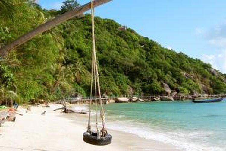 Pantai di Koh Phangan, Thailand.
