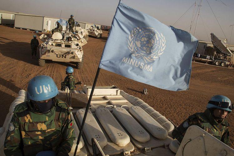 Ilustrasi pasukan perdamaian PBB.