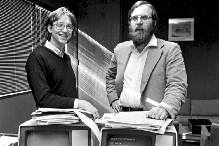 Pendiri Microsoft, Bill Gates dan Paul Allen