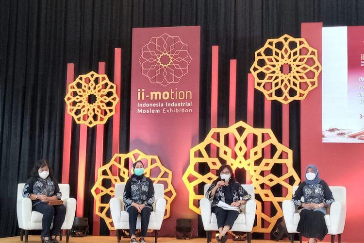 Direktur Jenderal Industri Kecil, Menengah dan Aneka (IKMA) Kementerian Perindustrian, Gati Wibawaningsih,  saat jumpa pers pembukaan pameran Indonesia Industrial Moslem Exhibition (ii-Motion) 2021, Kamis (3/6/2021).
