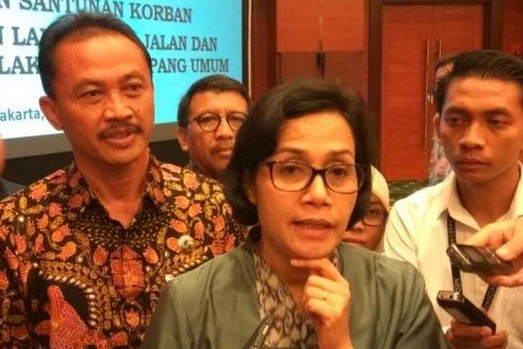 Menteri Keuangan Sri Mulyani Indrawati di Jakarta, Senin (13/2/2017).