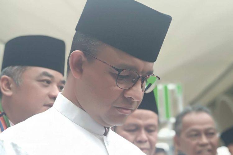 Gubernur DKI Jakarta Anies Baswedan di Blok B Tanah Abang, Jumat (13/7/2018).