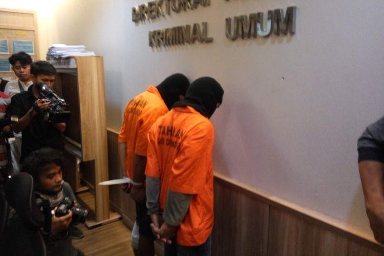 Pembunuh Pasutri di Benhil saat di Mapolda Metro Jaya