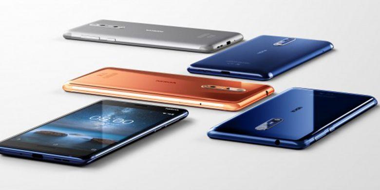 Pilihan-pilihan warna Nokia 8.