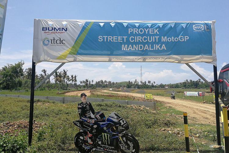 Lahan yang dikembangkan oleh PT ITDC di Mandalika, Lombok, NTB