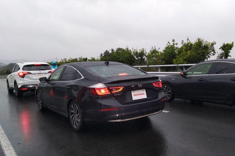 Menjajal fitur Honda Sensing pada sedan Honda Insight di JARI