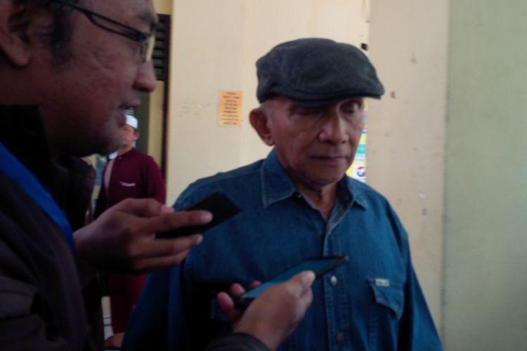 Ketua Dewan Penasihat Persaudaraan Alumni (PA) 212 Amien Rais di Mapolresta Surakarta, Solo, Jawa Tengah, Kamis (7/2/2019).