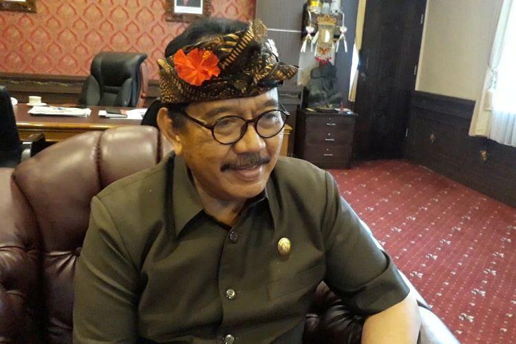 Wakil Gubernur Bali, TjokordaOka Artha Ardana Sukawati saat ditemui di ruang kerjanya, Senin (2/3/2020).