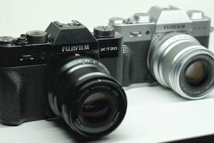 Kamera Fujifilm X-T20 saat diresmikan di Kyoto, Kamis (19/1/2016).