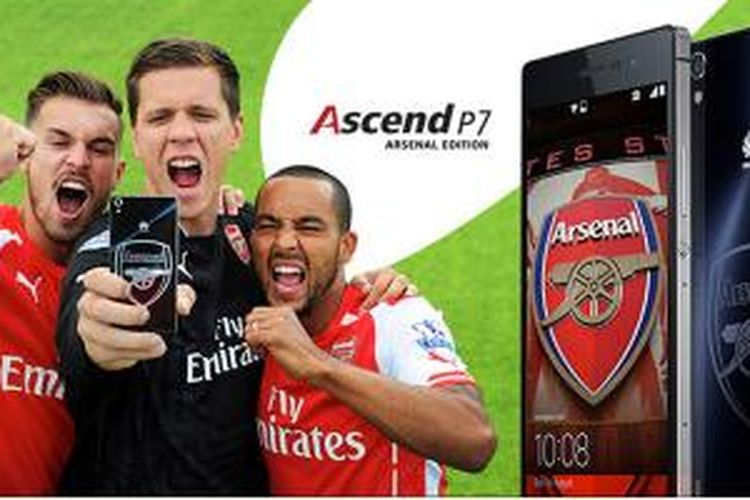Huawei Ascend P7 Arsenal Edition, smartphone 4G Android 4.4 KitKat untuk fans Arsenal.