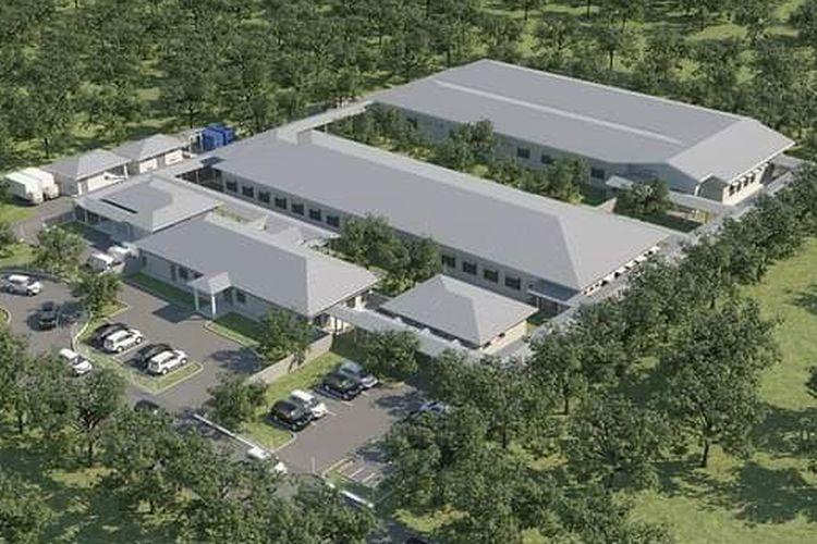 Desain rumah sakit karantina di Bangka.