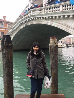 Saya di Rialto Bridge