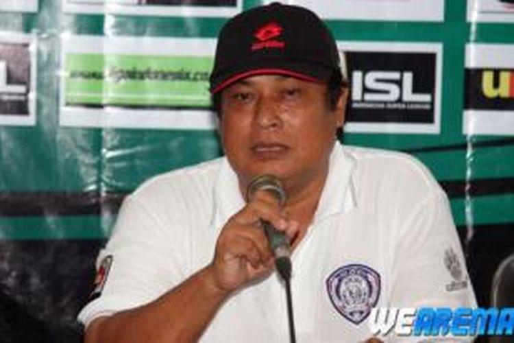 Pelatih anyar Arema Indonesia, Suharno.
