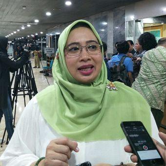 Wakil Ketua Komisi II DPR, Nihayatul Wafiroh di Kompleks Parlemen Senayan, Jakarta, Selasa (19/3/2019).