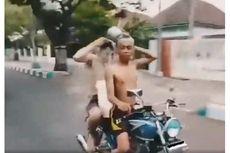 Viral Remaja Keramas Sambil Mengendarai Motor