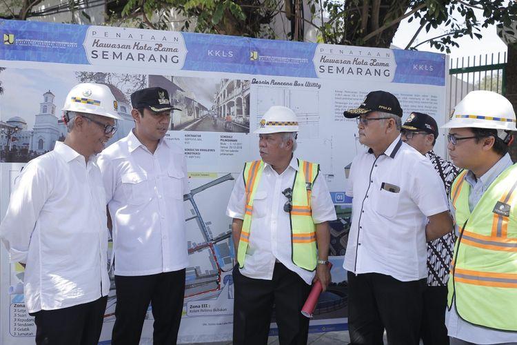 Menteri PUPR, Basuki Hadimuljono, dan Wali Kota Semarang, Hendrar Prihadi, berkomitmen mendukung operasional Bandara Internasional Ahmad Yani, Semarang, Minggu (27/5/2018)