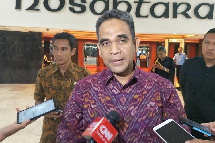 Sekjen Partai Gerindra Ahmad Muzani di Kompleks Parlemen, Senayan, Jakarta, Kamis (31/1/2019).