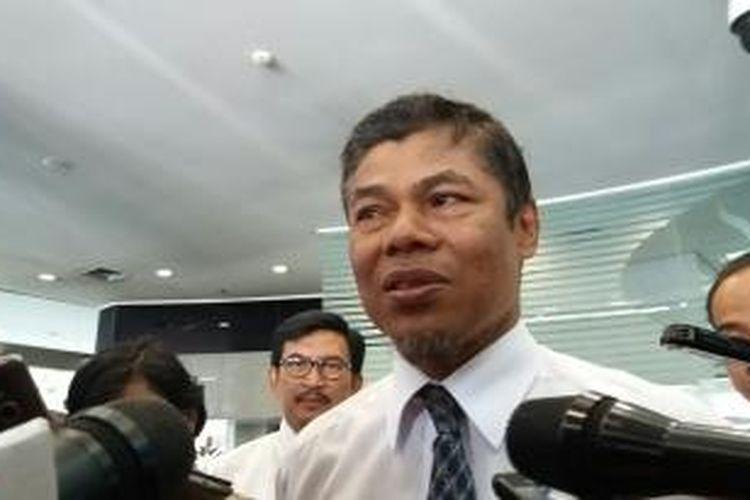 Kepala Pusat Pelaporan dan Analisis Transaksi Keuangan (PPATK), Muhammad Yusuf Ali di Kantor PPATK, Jakarta, Senin (28/12/2015)