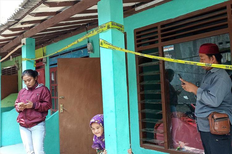 Kontrakan milik kakek FAN di Kecamatan Megamendung Puncak Bogor, Rabu (3/7/2019)