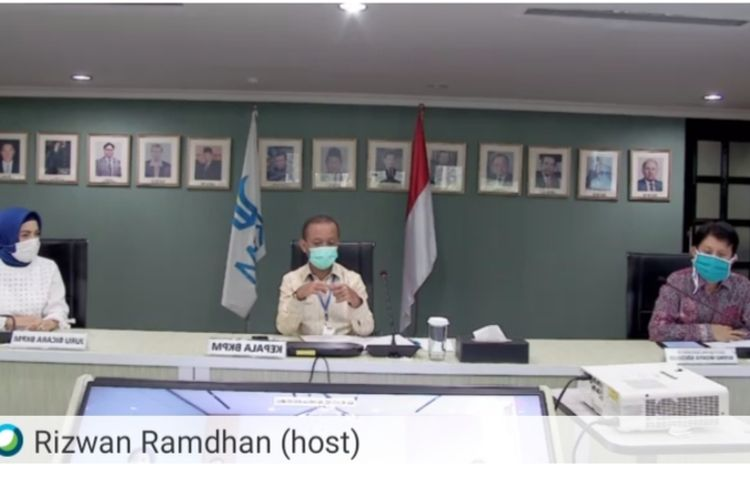 Kepala BKPM Bahlil Lahadalia saat virtual pressconference, Rabu (22/4/2020).