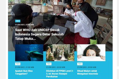 [POPULER TREN] Desakan WHO agar Sekolah di Indonesia Segera Gelar Sekolah Tatap Muka | Aturan Terbaru PPKM 21 September 2021