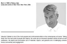 Maurizio Cattelan, Seniman Pencipta Instalasi Pisang Dilakban Seharga Rp 1,68 Miliar