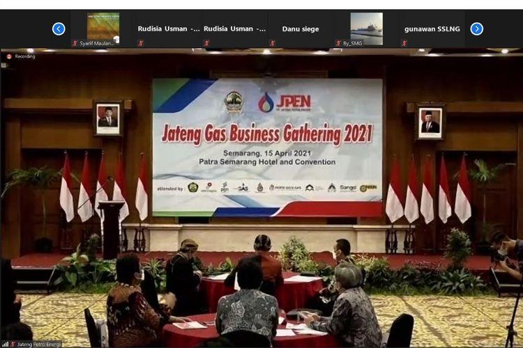 Acara Jateng Gas Business Gathering 2021, Kamis (15/04/2021).