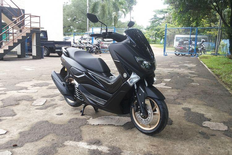 Sepeda motor NMAX model terbaru saat diperkenalkan di Sirkuti Karting Sentul, Bogor, Sabtu (9/12/2017).