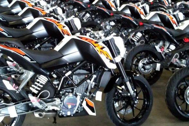 KTM Duke 200 yang siap dikirim ke konsumen dalam waktu dekat.