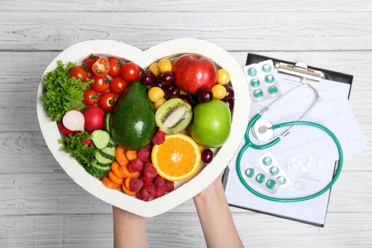Ilustrasi makanan, buah-buahan, sayur