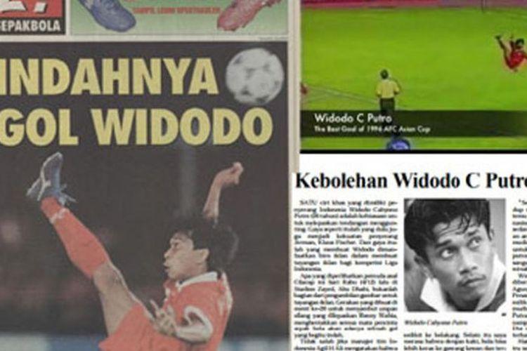 Widodo C Putro mencetak gol spektakuler pada Piala Asia 1996.