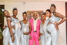 Playboy Nigeria Ini Datang ke Pesta Membawa 6 Wanita yang Tengah Hamil