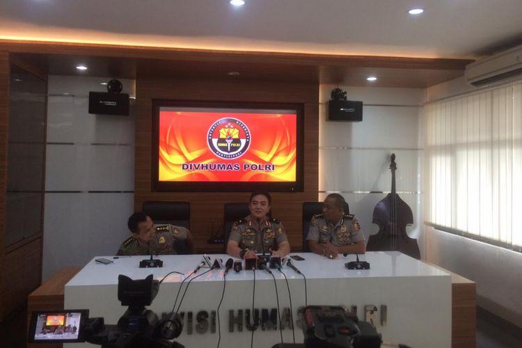 Kepala Divisi Humas Polri Brigjen (Pol) Muhammad Iqbal saat konferensi pers di Gedung Humas Mabes Polri, Jakarta Selatan, Selasa (4/11/2018).