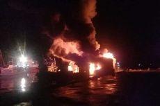 Sejumlah Kapal Terbakar Saat Bersandar di Pelabuhan Tulehu Maluku