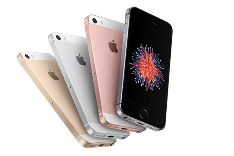 iPhone SE yang meluncur pada Senin (21/3/2016) tersedia dalam empat pilihan warna, yakni Silver, Gold, Space Gray, dan Rose Gold