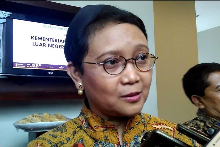 Menteri Luar Negeri, Retno Marsudi saat berada di Mataram, Jumat (31/3/2017)