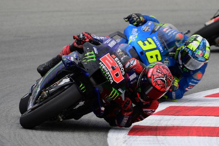 Pebalap Monster Energy Yamaha, Fabio Quartararo, mengalami nasib sial pada balapan MotoGP Catalunya 2021, Minggu (6/6/2021).