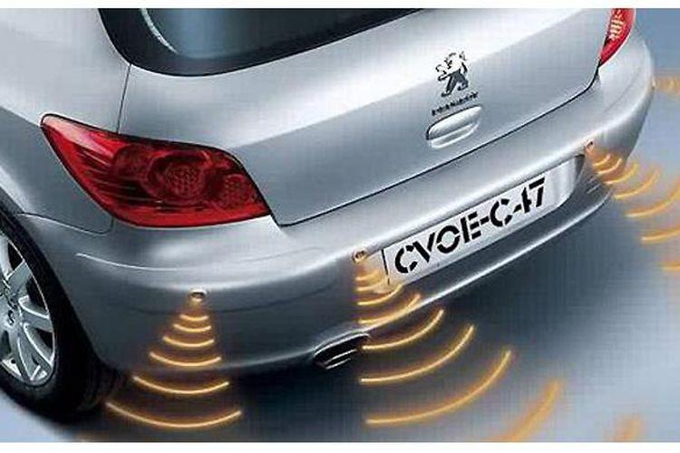 Sensor parkir akan bekerja sesuai objek yang ditangkap sonar.