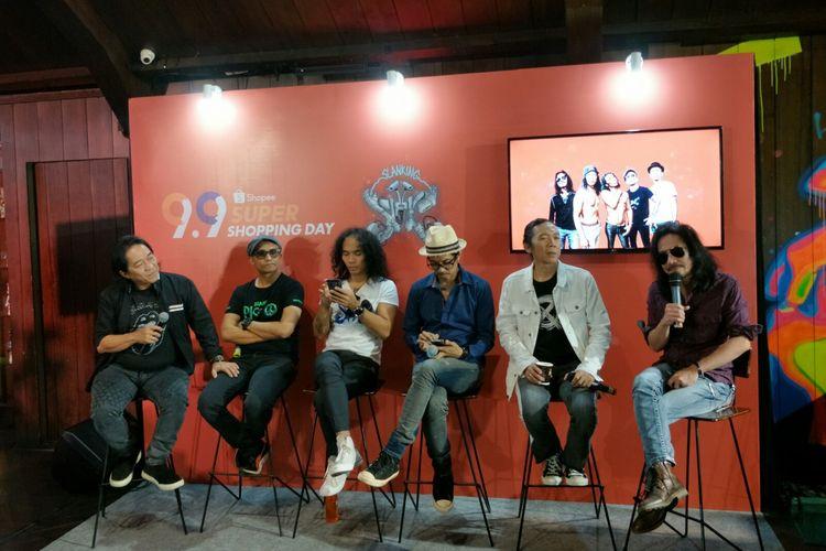 Slank rilis album baru Slanking Forever di kawasan Gunawarman, Jakarta Selatan, Kamis (22/8/2019).