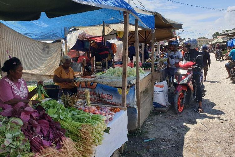 Aktifitas di Pasar Youtefa, Kota Jayapura, Papua, pada Sabtu (31/08/2019) pagi, mulai berjalan kembali.