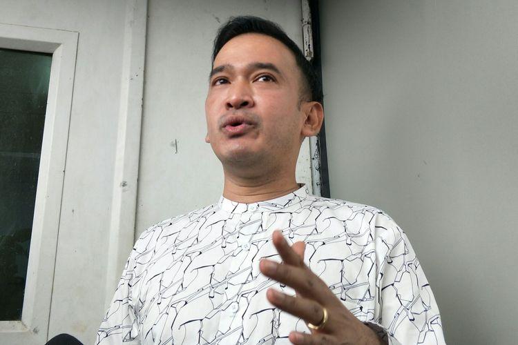 Ruben Onsu saat diwawancarai di kawasan Tendean, Jakarta Selatan, Senin (17/2/2020)