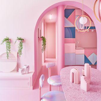 Apartemen pink.