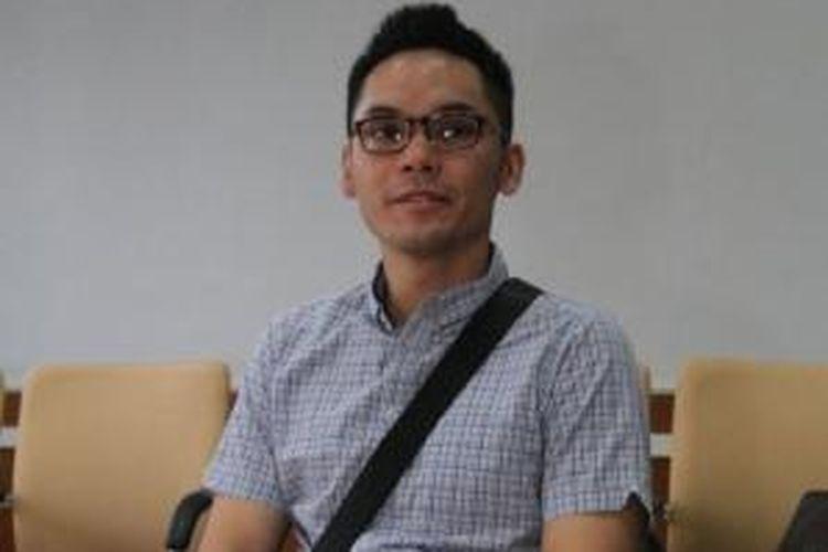 Ben Kasyafani hadir dalam sidang perceraiannya dari Marshanda atau Caca, dengan agenda pembacaan gugatan cerai Marshanda, di Pengadilan Agama Jakarta Pusat, Selasa (17/6/2014). Dalam sidang itu, Marshanda tidak hadir.