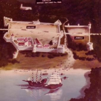 Ilustrasi Benteng Kastela yang dibangun Pada 1540 di Pulau Ternate
