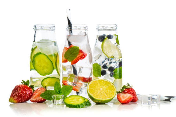 ilustrasi infused water