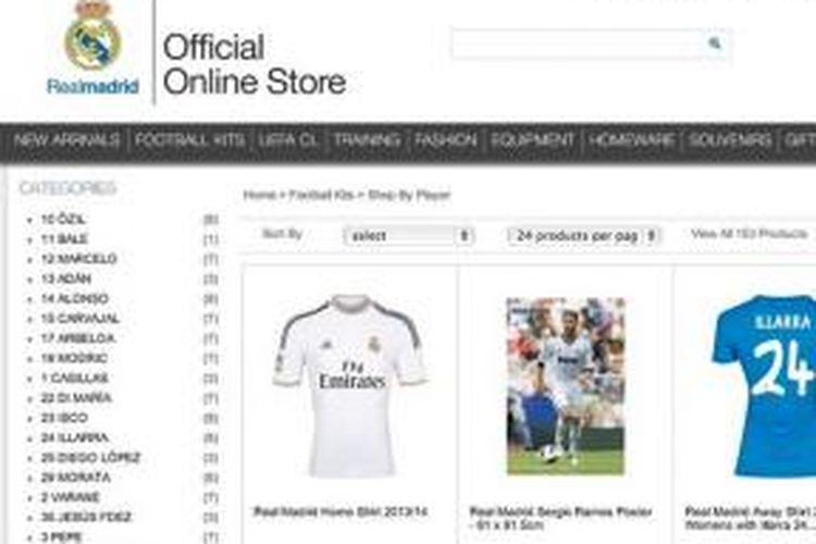 Belum resmi bergabung, seragam Gareth Bale mulai dijual oleh Real Madrid melalui situs resminya.