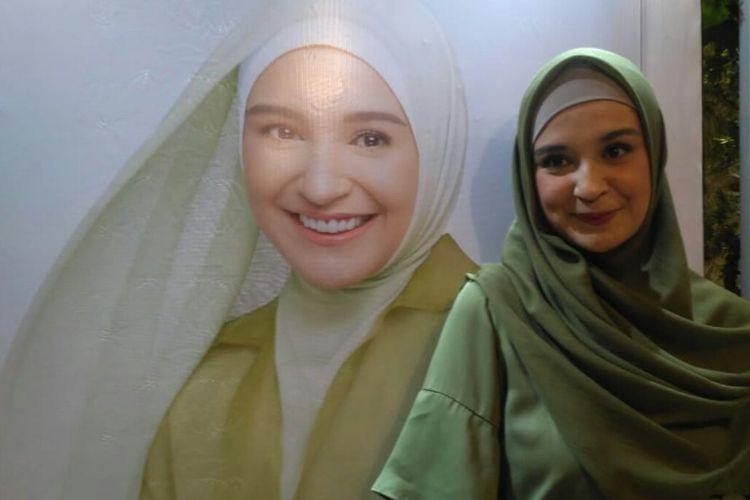 Artis peran Shireen Sungkar saat ditemui dalam jumpa pers di kawasan Gunawarman, Kebayoran Baru, Jakarta Selatan, Rabu (20/3/2019).